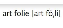art folie