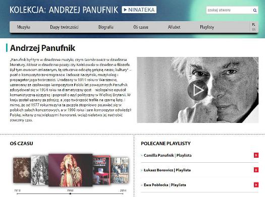 NINATEKA honoruje Andrzeja Panufnika