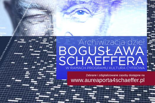 Archiwum dzieł Bogusława Schaeffera – nowe źródło na mapie legalnych źródeł