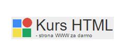 Kurs HTML, XHTML, style CSS, skrypty JavaScript