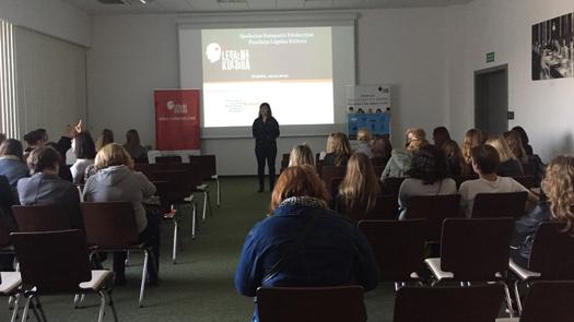 Wykład Fundacji Legalna Kultura na Targach książki wKrakowie