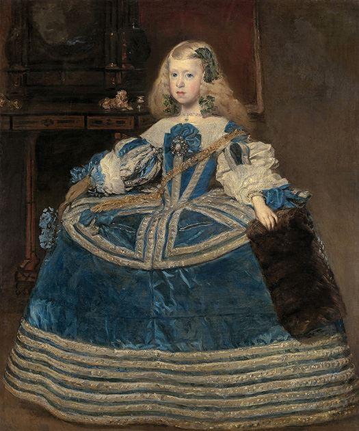 Łyk sztuki do kawy zinfantką Małgorzatą wniebieskiej sukni