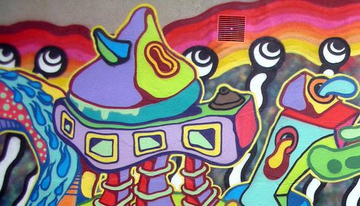 Koszulki zilustracją fragmentu muralu
