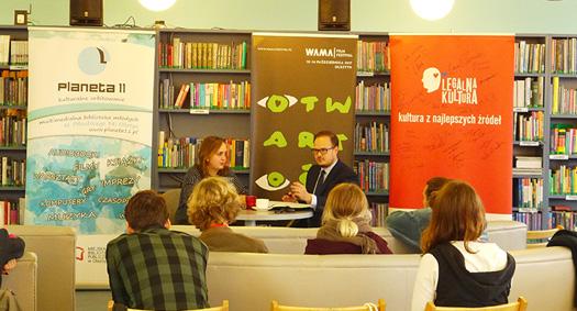 Warsztat Legalnej Kultury na WAMA Film Festival wOlsztynie