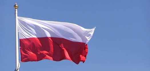 Flaga Polski jako tło na tablicy