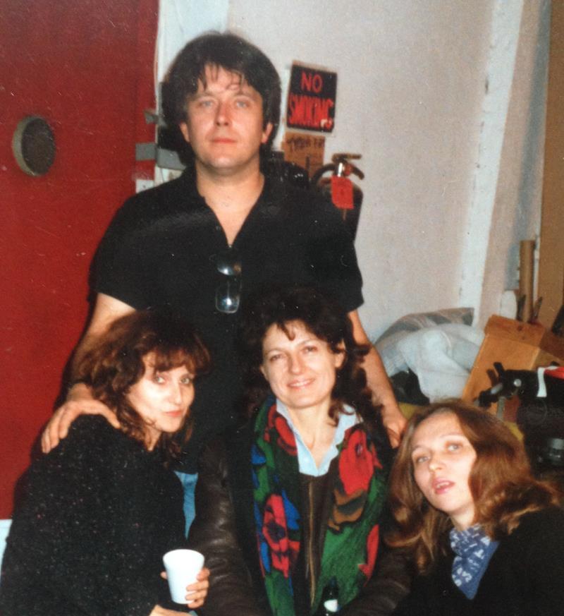 Od lewej - Maria, Zbyszek Rybczyński, Ula Dudziak, Wanda Rybczyńska. Studio Zbyszka wNowym Jorku - pocz. lat 90.